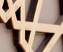 laser cut sycamore veneer wall branding
